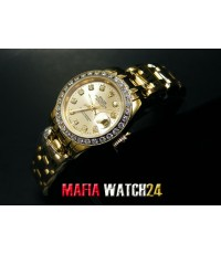 M0315 นาฬิกา Rolex Lady Datejust Pearlmaster Yellow Gold and Diamond 29 mm. Mirror Ref.80298
