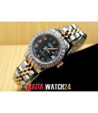 M0362 นาฬิกา Rolex Lady Datejust Jubilee 26 mm.Steel Rose Gold 2K Mirror สายตันซีรีย์ 17 New Version