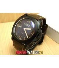 M0414 นาฬิกา Panerai Luminor 1950 PVD BLACK VINTAGE 47mm. Mirror Case Swiss ลิมิเต็ทสุดๆ