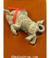 วัวธนู รุ่นแรก หลวงพ่อสุพจน์ วัดศรีทรงธรรม เนืื้อนวะโลหะเทดินไทย จ่าฝูง