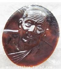 สวยกริ๊ป เหรียญ หลวงพ่อทวด เนื้อ หินรัตนชาติ รุ่นเปิดโลกเศรษฐี ปี ๕๘ วัดพระมหาธาตุวรมหาวิหาร