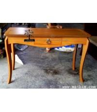 โต๊ะทำงานไม้สักขาปีก-DK01
