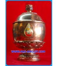 บาตรน้ำพระพุทธมนต์คชวัตร (เนื้อนวโลหะ) บรรจุกริ่งคชวัตร  90 พรรษา สมเด็จพระสังฆราช วัดบวรฯ ปี 46