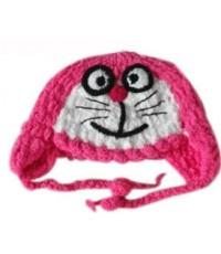 หมวกไหมพรมรูปสัตว์ โดเรมอน