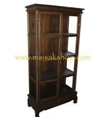 เฟอร์นิเจอร์ไม้สัก(furniture)ตู้,ตู้โชว์,ตู้โบราณ,ตู้โบราณไม้,ตู้โบราณไม้สักแบบ 4 ฃั้น 2 บาน