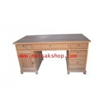 เฟอร์นิเจอร์ไม้สัก (Furniture) โต๊ะ, โต๊ะทำงานไม้สัก แบบบัญชี