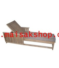 เฟอร์นิเจอร์ไม้สัก(Furniture) เตียงสนาม,เตียงสนามไม้,เตียงสระน้ำไม้สัก แบบมีผนังกั้น คล้ายโซฟา