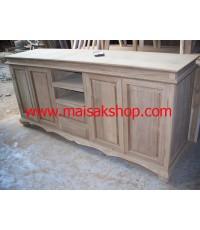 เฟอร์นิเจอร์ไม้สัก(Furniture) ตู้,ตู้โชว์, ตู้โชว์ไม้สักหรือชั้นวางทีวีแบบลายลูกฟัก