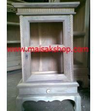 เฟอร์นิเจอร์ไม้สัก(furniture) ตู้,ตู้โชว์,ตู้โบราณ,ตู้โบราณไม้,ตู้โบราณไม้สักแบบเล็ก 2 ชั้น