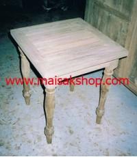 เฟอร์นิเจอร์ไม้สัก(Furniture) โต๊ะ,  โต๊ะวางของไม้สัก ขาลูกกลึง