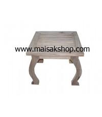 เฟอร์นิเจอร์ไม้สัก(Furniture) โต๊ะวางของขาโค้ง