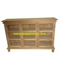 เฟอร์นิเจอร์ไม้สัก(furniture)ตู้,ตู้โชว์,ตู้โบราณ,ตู้โบราณไม้,ตู้โบราณไม้สักแบบ3 บาน 3 ชั้นขาชาลาเปา