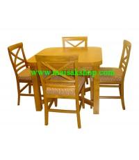 เฟอร์นิเจอร์ไม้สัก(Furniture)  โต๊ะรัประทานอาหารไม้สักแบบขยายไชด์