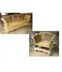 เฟอร์นิเจอร์ไม้สัก (Furniture)  ชุดรับแขกไม้สัก แบบลายฉลุ