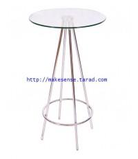 โต๊ะบาร์สูง Top กระจกใส COCO B ขนาดเส้นผ่านศูนย์กลาง 60 ซม. x สูง 110 ซม.
