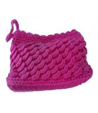 กระเป๋าไหมถัก สีชมพู