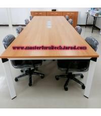 โต๊ะประชุมขาเหล็ก สี่เหลี่ยม 8-10 ที่นั่ง
