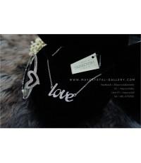 สร้อยคอ และ กำไลข้อมือ SWAROVSKI ELEMENTS แท้ = ตัวอักษร Love