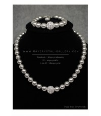 ชุดสร้อยคอ และสร้อยข้อมือ มุกสวารอฟสกี้ (Pearls from SWAROVSKI)