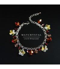 สร้อยข้อมือ คริสตัลสวารอฟสกี้ (Embellished with Crystals from Swarovski®)