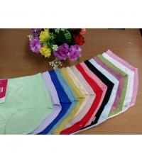 กางเกงในไร้ขอบ สีพื้น ผ้านิ่ม ใส่สบาย (FREE SIZE) 100 บาท