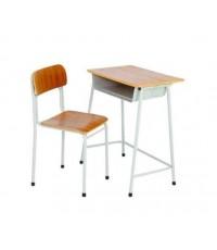 MD2-012 โต๊ะและเก้าอี้นักเรียน สปช.หน้าไม้