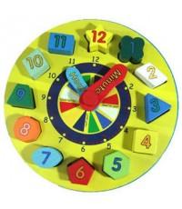 ของเล่นเด็ก ตัวต่อไม้นาฬิกา