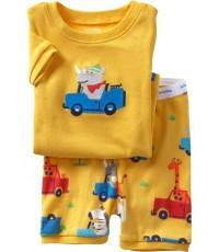 ชุดนอน Baby Gap แขนสั้นขาสั้น ลายแรดขับรถ สีเหลือง ชุดเด็ก Baby Gap
