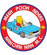 แบบโลโก้หมีพูห์ ไรเดอร์น่าน MEEH POOH RIDERS NAKORN NAN M.C.