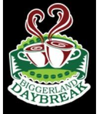 แบบโลโก้ ร้านกาแฟ BIGGERLAND DAYBREAK