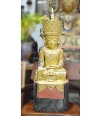พระอินเลย์ปิดทองพม่า 11 นิ้ว