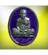 แท้ชัวร์!! เหรียญเงินลงยา รุ่นสร้างบารมี หลวงพ่อคูณ วัดบ้านไร่ นครราชสีมา ปี2536 สภาพสวยมากๆพร้อมกล่
