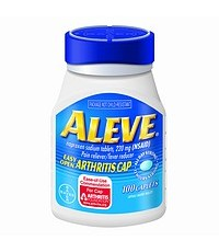 Aleve Pain Reliever, Fever Reducer, 220mg Tablets, Easy Open Cap  100 ea พร้อมส่งคะ