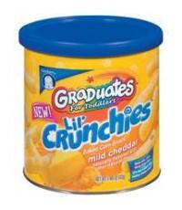 Gerber Graduates Lil\' Crunchies: Mild Cheddar Baked Corn Snack, 1.48 oz