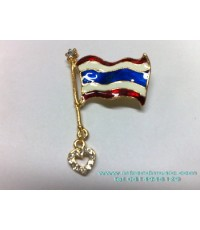 กลัดธงชาติไทยสวยงามพร้อมหัวใจน่ารัก