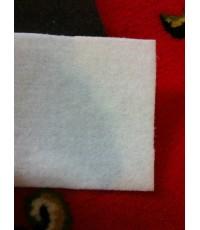 พรมอัด สีขาว พรมหนา 2.55 mm. ขนาดยกม้วน 1.5m.x25m.