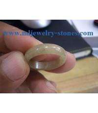 แหวนหยก พม่า แหวนเกลี้ยง ไซส์ 59
