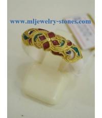 แหวนงาช้างทำทองลงยาสุโขทัย