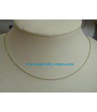 สร้อยทองคำขาว 2 สี อิตาลีแท้ 18k หนัก 2.7 กรัม ยาว 18 นิ้ว