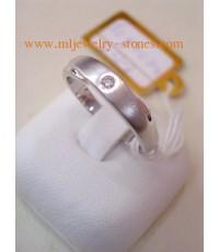 แหวนทองคำขาวเพชรแท้ 0.03 กะรัต