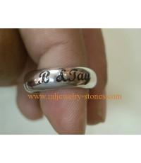 แหวนเงินยิงเลเซอร์ตัวอักษร,แหวนเงินแกะสลักชื่อด้วยเลเซอร์ตัวอักษร
