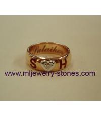 แหวนพิงค์โกลด์ยิงเลเซอร์,แหวนพิงค์โกลด์แกะสลักชื่อด้วยเลเซอร์