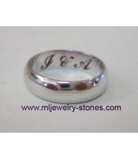แหวนทองคำขาว,แหวนเกลี้ยงด้านในยิงเลเซอร์