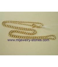 สร้อยคอทองคำขาวอิตาลีแท้ 18 k 2 สี ลายยินตัน