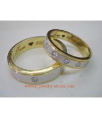 แหวนเพชรคู่ ชาย/หญิง แหวนแต่งงาน แหวนหมั้น แหวนคู่ ชาย-หญิง รับสั่งทำตามแบบหรือให้ทางร้านออกแบบให้