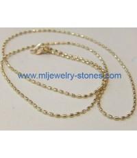 สร้อยคอทองคำขาวอิตาลีแท้ 18 k 2.42 กรัม