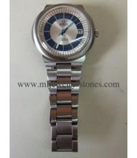 นาฬิกาโอเมก้าไดนามิก OMEGA DYNAMIC GENEVE AUTOMATIC หน้าทูโทน ตัวขาว สายสแตนเลสเท้