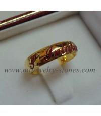 แหวนทองคำยิงเลเซอร์ S.Intakarn (งานสั่งทำ)