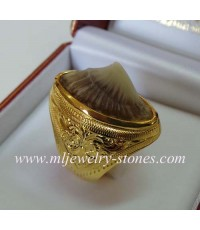 แหวนกระเบนท้องน้ำตัวเรือนทอง(งานสั่งทำ)