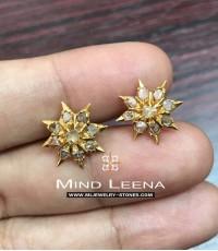 ต่างหูเพชรซีกโบราณ(ซุมบังอินตัน)peranakan nyonya jewelry
